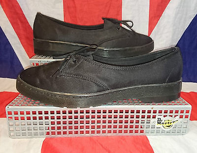 Rare*Quirky*Morada 1 Eyelet Black Canvas Dr Doc Martens Shoes*Skingirl Grunge*8 • 57.99£