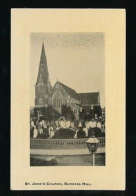 Sussex BURGESS HILL St Johns Church Pre1919 PPC • 6£