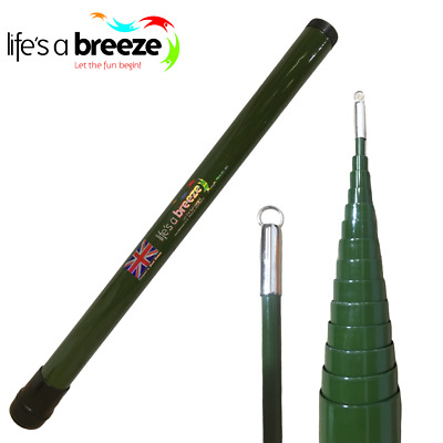 Travel Telescopic Flag Pole, Only 57cm Long When Collapse, Green In Colour • 340£