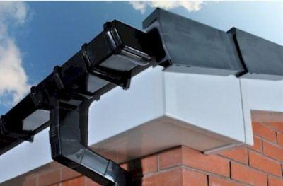 £1.89 • Buy Black Square Line Guttering Rainwater System UPVC Eurocell All Parts Available