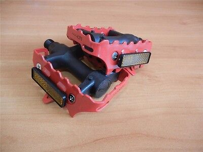 $13.50 • Buy * Red Union Cage Pedals 9/16'' Fixie- Road Bike-Mountain Bike