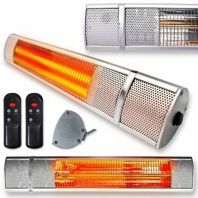Garden Heater Patio Outdoor Electric Wall Mounted Infrared 2kw Halogen Garage • 69.99£
