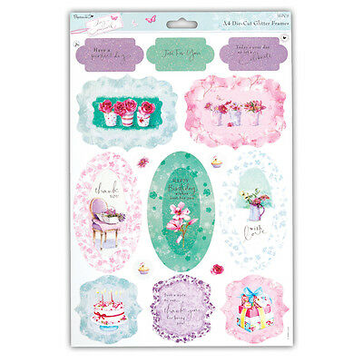 Papermania Lucy Cromwell Glitter Toppers  Perfect Day  Great For Cards & Crafts • 1.25£