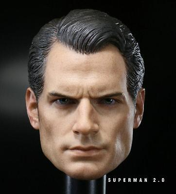 $ CDN26.55 • Buy Custom 1/6 Scale Henry Cavill Batman V Superman 2 Head Sculpt For Hot Toys Body