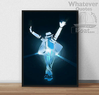 Michael Jackson KING OF POP Wall Art Poster Print Cool Gift - All Sizes + Frame • 4.95£