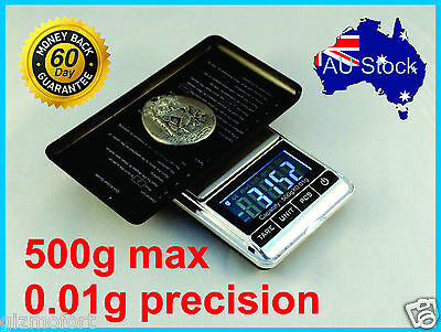 AU12.95 • Buy 500g 0.01g Digital Precision Weight JEWELLERY ELECTRONIC POCKET LAB SCALE Mini