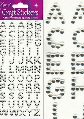 Beautiful Diamonte Gem Alphabet Stickers For Cards And Crafts • 1.25£