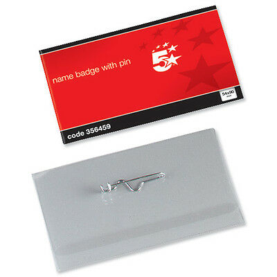 Name Visitor ID Badges Plastic With Pin & Inserts 54x90mm - 356459 • 84.99£