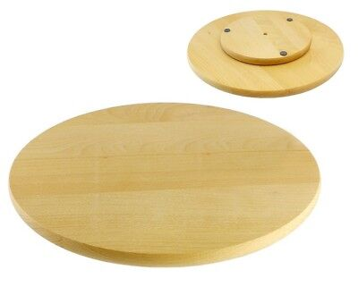 £23.49 • Buy Rotating Board Lazy Susan Round Circular Wooden Swivel Serving Pizza Cake 40 Cm