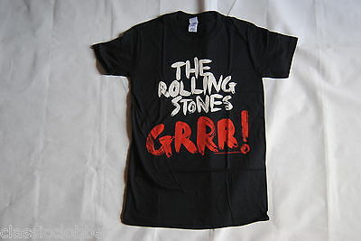 Rolling Stones Contrast Paint Grrr! Greatest Hits T Shirt Small New Official • 9.99£