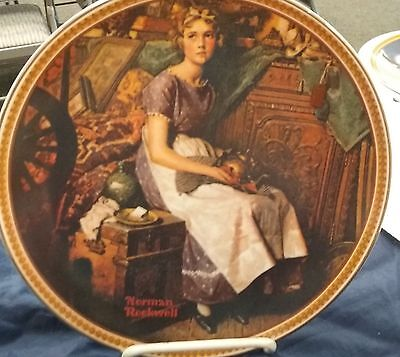 $ CDN37.58 • Buy Norman Rockwell's Rediscovered Women Collector Plate Of Dreaming In The Attic