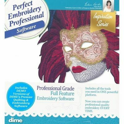 $2999 • Buy DIME Designs In Machine Embroidery Professional Embroidery Software New