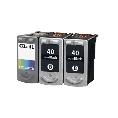 £43.18 • Buy 3 Remanufactured Ink Cartridge For Canon IP1700 IP1800 IP1900 IP2200 PG40 CL41