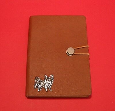 £13.99 • Buy Papillon Dog A6 Tan Soft Touch Journal Notebook Father Mothers Christmas Gift
