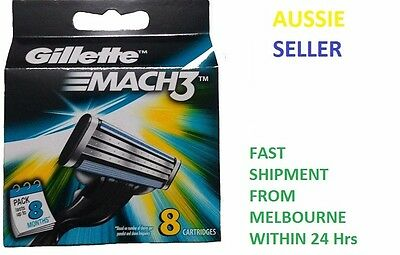 AU260 • Buy Gillette Mach 3 Cartridges 4 8 12 16 24 36 Razor Blades Shaving  Genuine Mach3