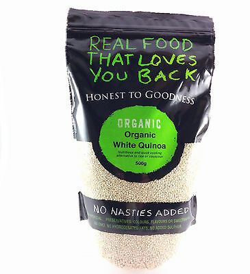 AU19.95 • Buy Honest To Goodness Organic White Quinoa 500g In Resealable Bag
