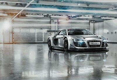 £57.99 • Buy GIANT WALL MURAL FOR LIVING ROOM BOYS ROOM & BEDROOM Audi R8 Sports Car - Silver