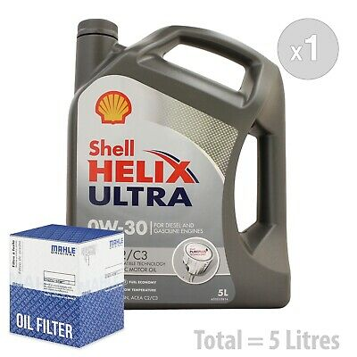 AU126.94 • Buy Engine Oil And Filter Service Kit 5 LITRES Shell Helix Ultra ECT 0W-30 0W30 5L