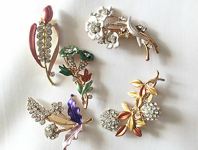 £3.99 • Buy 5 Styles Pearl Crystal Fashion Brooch Pin For Wedding Dresses