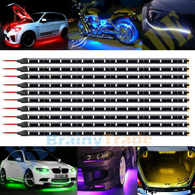 $15.99 • Buy 10x 12V 30cm 1FT 15SMD Flexible LED Strip Light Waterproof For Car Truck Boat