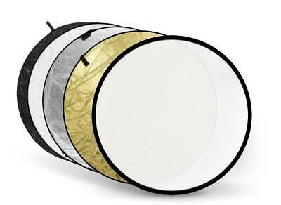 5 In 1 Collapsible Multi Circular Light Reflector 80cm - Photo Studio Video • 14.95£