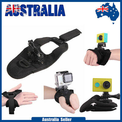 AU10.97 • Buy 360° Glove Style Wrist Band Mount Strap Accessories For GoPro Hero 4/3+/2/1 Cam