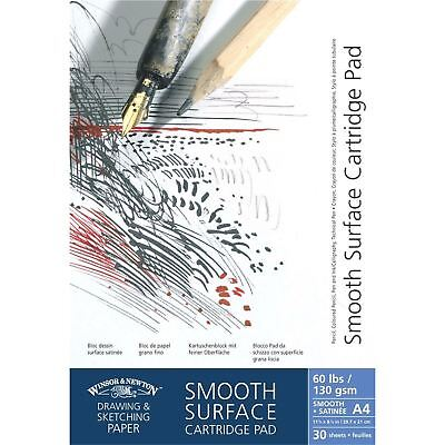 Winsor & Newton Smooth Surface Drawing Sketch Pads - 130gsm/60lb • 9.99£
