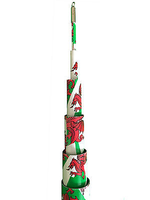 6M Welsh Strongest Telescopic Flag Pole. For Camping, Caravan, Festivals • 47£