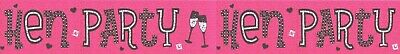 £1.50 • Buy Hen Party/ Hen Night Pink And Silver Foil Party Banners (ex)