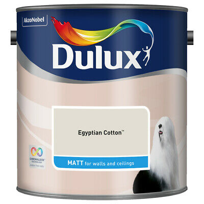 Dulux Smooth Emulsion Matt Paint - Egyptian Cotton - 2.5L - Walls And Ceiling  • 22.99£
