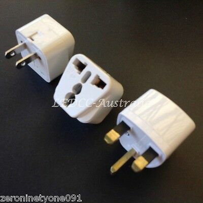 AU14.69 • Buy AU AUS To CHINA CN HK  Power Plug Travel Adapter Converter Combo  2pc (Imp Info)