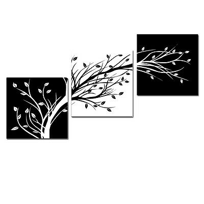 $18.90 • Buy Abstract Canvas Art Print Photo Painting Wall Home Decor Poster Black White Tree