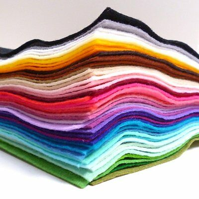 12  Premium Wool Blend Felt SQUARE 40% Wool 60 Colours To Choose From PER SQUARE • 1.50£