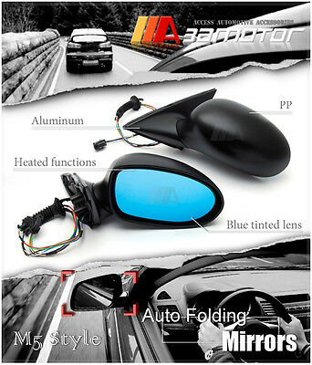 $279.99 • Buy Look M5 Style Auto Folding Electric Heating Side Mirror For BMW E39 5-Series LHD