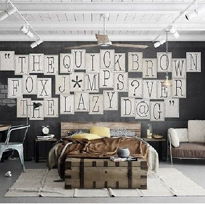 1Wall CREATIVE COLLAGE 64 Piece CLASSIC TYPOGRAPHY Designer Wallpaper 7 Sqm • 36.99£