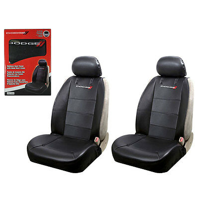 $53.95 • Buy New Dodge Elite Synthetic Leather Sideless Car Truck 2 Front Seat Covers Set