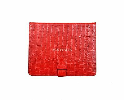 $35.41 • Buy IPAD 2 3 & 4 Red Croc Print Luxury Real Genuine Leather Cover Case Stand