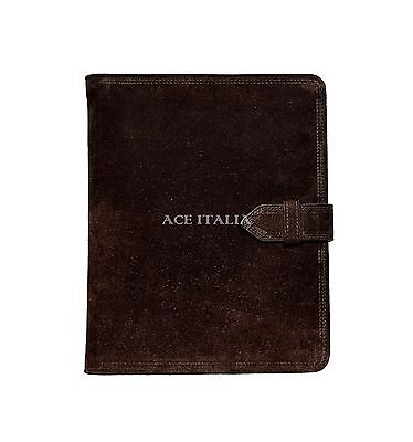 $35.41 • Buy IPAD 2 3 & 4 Brown Suede Cowhide Luxury Real Genuine Leather Cover Case Stand