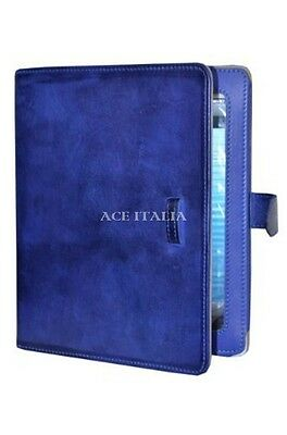 $35.41 • Buy IPAD 2 3 & 4 Blue Soft Lambskin Luxury Real Genuine Leather Cover Case Stand