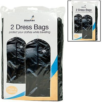 £2.99 • Buy 2/1 Pack Suit Bag Dress Clothes Travel Protector Carrier Garment Bags Storage