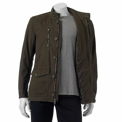 $56 • Buy New Mens Marc Anthony Slim-Fit Lightweight Military/Field Jacket Olive XXL $140