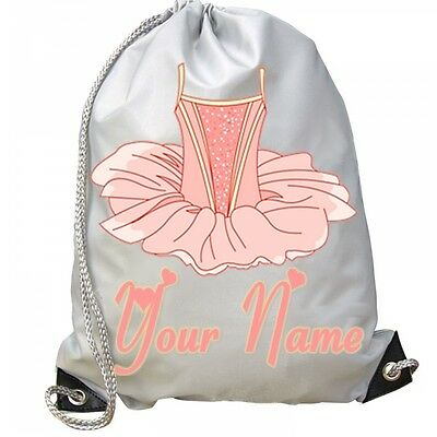 GIRLS Personalised Ballet Tutu Gym BAG For Swim PE Dance School Great Gift!! • 9.99£