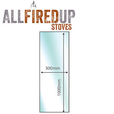 Insert Glass Hearth Floor Plate For Multifuel Wood Burning Stoves 12mm Thick • 113.16£