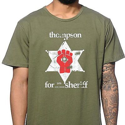 $12.95 • Buy HUNTER S THOMPSON SHERIFF Marijuana Legalize Medical Colorado Gonzo T-Shirt