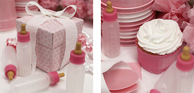 4 Baby Shower Christening Party Pink  Bottles Favors Table Decoration  • 1.79£