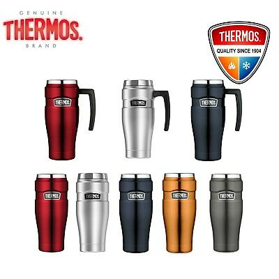AU37.85 • Buy Thermos STAINLESS STEEL VACUUM Insulated Travel Mug Thermo With Handle 470ml