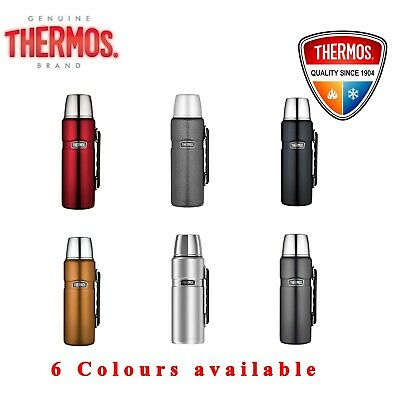 AU42.69 • Buy Thermos STAINLESS STEEL VACUUM Insulated Beverage Bottle Thermo Flask 1.2L