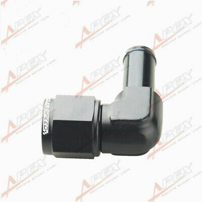 AU16.99 • Buy 90 Degree 8AN AN8 AN-8 Female To 1/2  (13mm) Barb Hose Adapter Fitting Black