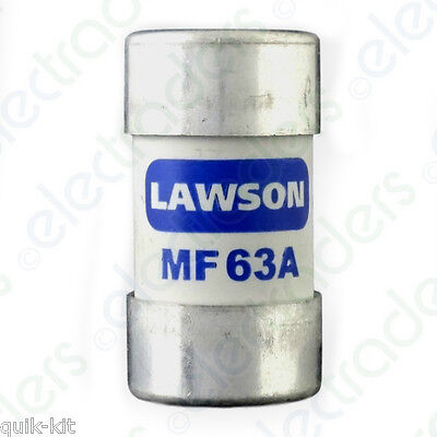 Lawson MF63A Cut Out Fuse - 63 Amp BS88 • 7.15£