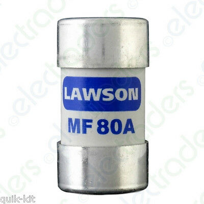 Lawson MF80A Cut Out Fuse - 80 Amp BS88 • 7.15£